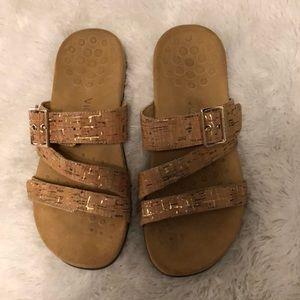 Vionic Skylar Cork Slides Sandals